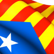 Blue Estelada Flag — Stock Photo