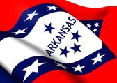 Flag of Arkansas, USA.  — Stock Photo