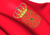 Flag of Navarra, Spain.  — Stock Photo