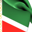 Flag of Chechen Republic, Russia. — Stock Photo #43337659