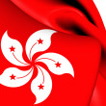 Flag of Hong Kong. Close Up. — Stock Photo #43337707