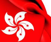 Flag of Hong Kong. Close Up. — Stock Photo