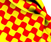 Flag of Tarragona City, Spain.  — Stock Photo