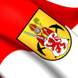 Flag of Kerkrade, Netherlands. — Stock Photo