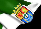 Flag of Extremadura, Spain.  — Stock Photo