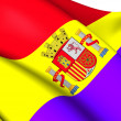 Flag of Second Spanish Republic — Stock Photo