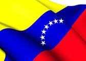 Civil Ensign of Venezuela — Stock Photo