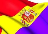Flag of Second Spanish Republic — Stock Photo