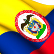 Sovereign State of Panama, 1863-1886 (Colombia) Flag. — Stock Photo #44883061