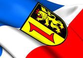 Flag of Mannheim, Germany. — Stock Photo