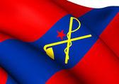 Flag of Inner Mongolian Autonomous Government — Stock Photo