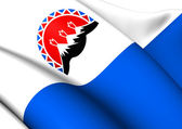 Flag of Kamchatka Krai, Russia.  — Stock Photo