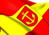 Flag of Ludwigshafen am Rhein, Germany. — Stock Photo