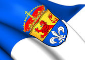 Flag of Darmstadt, Germany.  — Stock Photo
