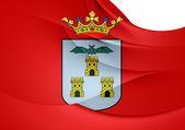 Flag of Albacete City, Spain.  — Stock Photo