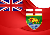 Flag of Manitoba, Canada.  — Stock Photo