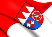 Flag of Lower Franconia, Germany.  — Stock Photo