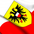 Flag of Lubeck, Germany.  — Stock Photo #46056941