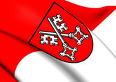 Flag of Regensburg, Germany.  — Stock Photo