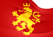 Ethnic Macedonian Lion Flag — Stock Photo