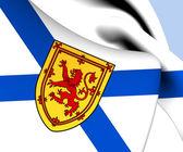 Flag of Nova Scotia, Canada.  — Stock Photo