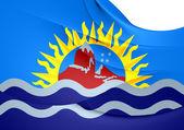 Flag of Santa Cruz Province, Argentina. — Stock Photo