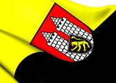 Flag of Hof, Germany. — Stockfoto