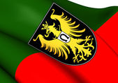 Flag of Isny im Allgau, Germany.  — Stock Photo