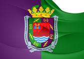 Flagge der stadt malaga, spanien. — Stockfoto