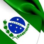 Flag of Parana, Brazil. — Stock Photo #46884041