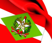 Flag of Santa Catarina, Brazil.  — Stock Photo