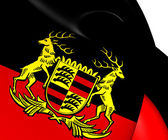 Free People's State of Wurttemberg Flag (1918-1945), Germany.  — Stock Photo