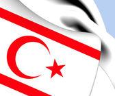 Turkish Republic of Northern Cyprus Flag — Stock Photo