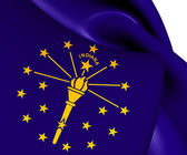 Flag of Indiana, USA.  — Stock Photo
