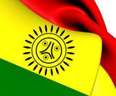 Flag of Jatibonicu Taino Tribal Nation of Boriken — Stock Photo