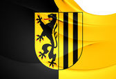 Flag of Dresden, Germany.  — Stock Photo