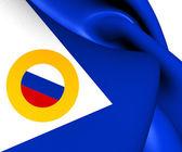 Flag of Chukotka Autonomous Okrug, Russia.  — Stock Photo