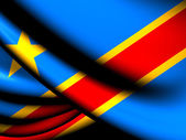 Democratic Republic of the Congo Flag — Stock Photo
