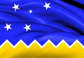 Flag of Magallanes and Antartica Chilena Region — Stock Photo