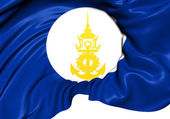 Royal Thai Navy Flag — Stok fotoğraf
