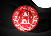 President of Afghanistan Flag — Stock Photo