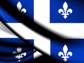 Flag of Quebec Province — 图库照片