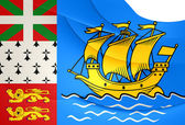 Flag of Saint Pierre and Miquelon, France.  — Stock Photo