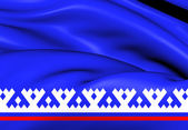 Flag of Yamalo-Nenets Autonomous Okrug, Russia.  — Stock Photo