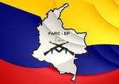 Flag of FARC-EP — Stockfoto