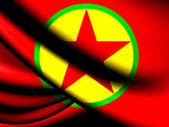 Flag of Kurdistan Workers' Party — Stockfoto
