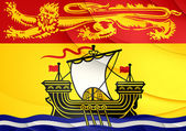 Flag of New Brunswick, Canada. — Stock Photo