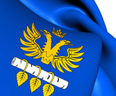Flag of Brzozow County, Poland.  — Stockfoto