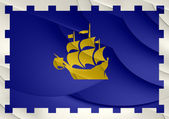 Flag of Quebec City, Canada.  — Stockfoto