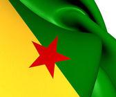 Flag of French Guiana — Stock Photo